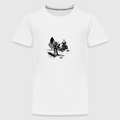 moon-landing - Teenage Premium T-Shirt