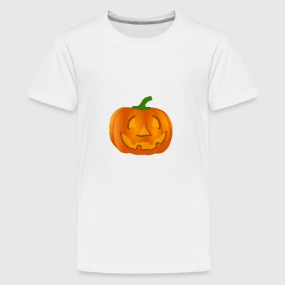 Halloween Kürbis - Teenager Premium T-Shirt