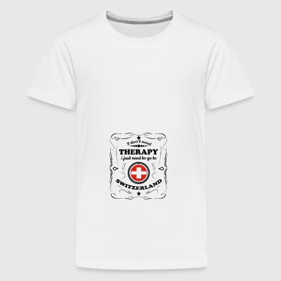 No necesito TERAPIA Switzerland - Camiseta premium adolescente