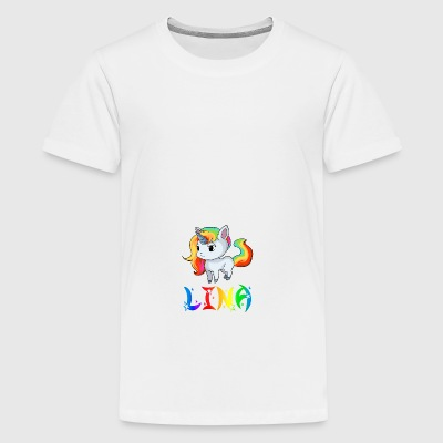 Lina unicorn - Teenage Premium T-Shirt