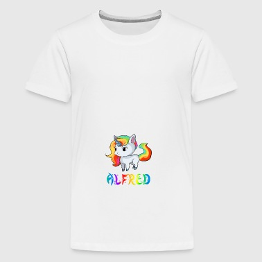 Unicorn Alfred - Teenage Premium T-Shirt