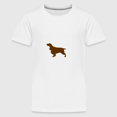 Field Spaniel (Liver Docked) - Teenage Premium T-Shirt