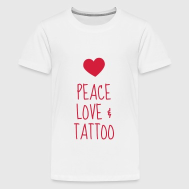 Tatoo / Tattooed / Tattooist / Biker / Piercing - Teenage Premium T-Shirt