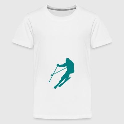 2541614 10762338 Ski - Teenage Premium T-Shirt