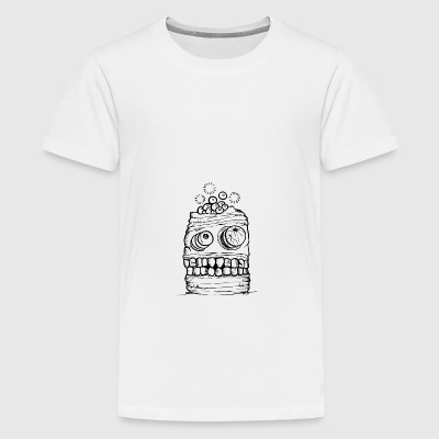 Crâne Monster Halloween - T-shirt Premium Ado