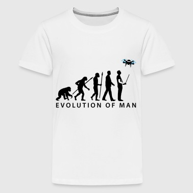 Evolution Modellflieger Drohne 4 Propeller - Teenager Premium T-Shirt