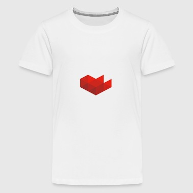youtube hjerte - Teenager premium T-shirt