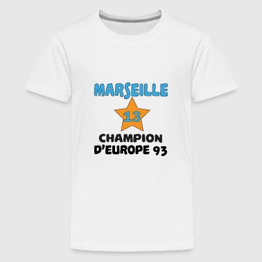Marseille champion d'europe 93 - Premium-T-shirt tonåring