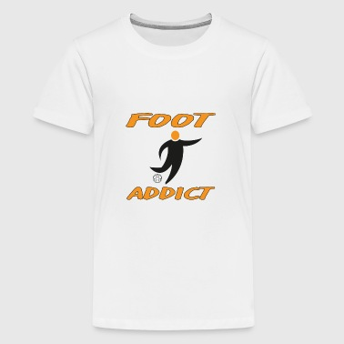 Foot addict - Premium-T-shirt tonåring