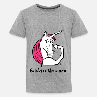 Badass Unicorn Badass Unicorn - Teenage Premium T-Shirt