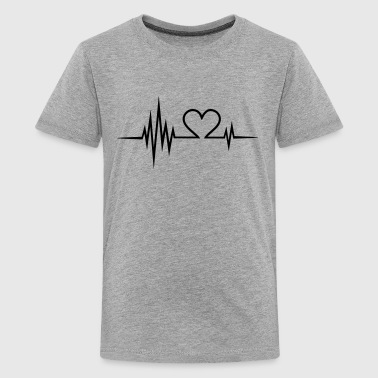 Pulse, frequentie, Valentijnsdag, I love you, hart - Teenager Premium T-shirt