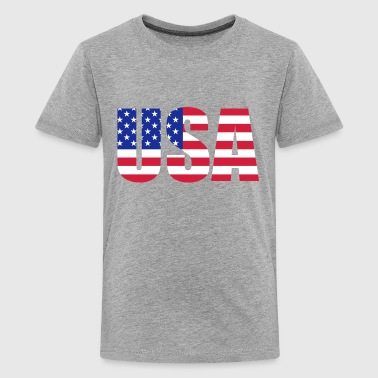 American flag - Teenage Premium T-Shirt