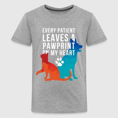 Vet-pawprints on my heart - Teenage Premium T-Shirt