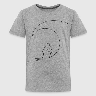 Surfen Surfer - Teenager Premium T-Shirt