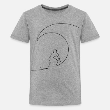 Surfing Surfer - Teenage Premium T-Shirt