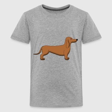 Dachshund Brown - T-shirt Premium Ado
