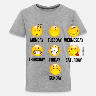 SmileyWorld Weekly Overview - Teenager Premium T-shirt
