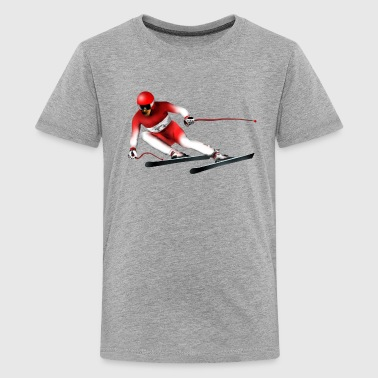 ski Slalom - Teenage Premium T-Shirt
