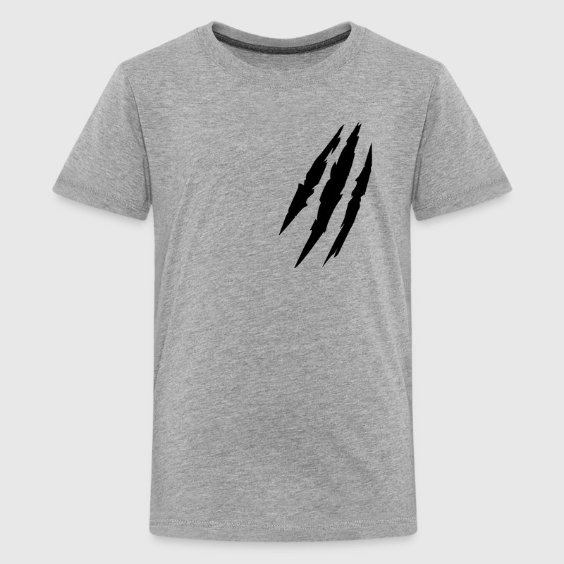 Beast animal scratches claw marks blood scars - Teenage Premium T-Shirt