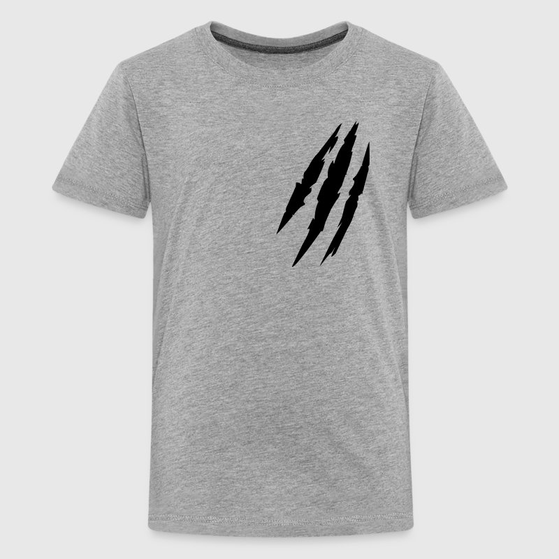 Bête animal claw marks marques griffes - T-shirt Premium Ado