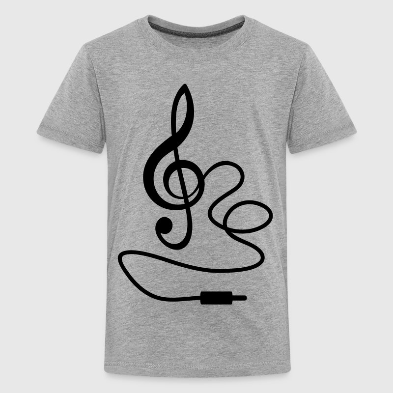 Instant Musik - Notenschlüssel Noten - Teenager Premium T-Shirt