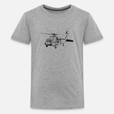Black Hawk helicopter UH-60 - Camiseta premium adolescente