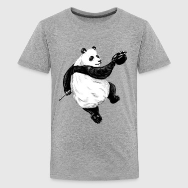 Dancing Panda - Teenage Premium T-Shirt