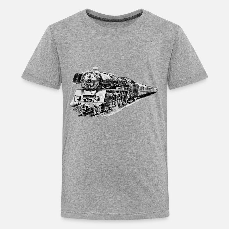Vapeur AdoSpreadshirt À Shirt Locomotive T Premium ARj4L35
