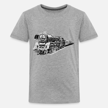 Locomotive Locomotive à vapeur  - T-shirt Premium Ado
