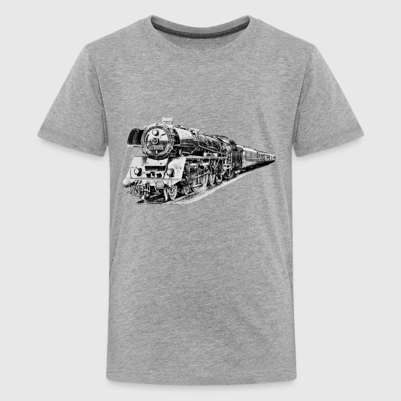 steam locomotive - Teenage Premium T-Shirt