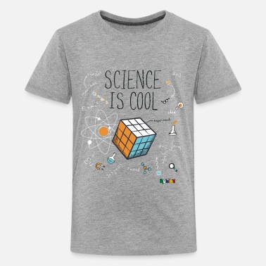 Cube Rubik's Cube Science Cool - T-shirt premium Ado