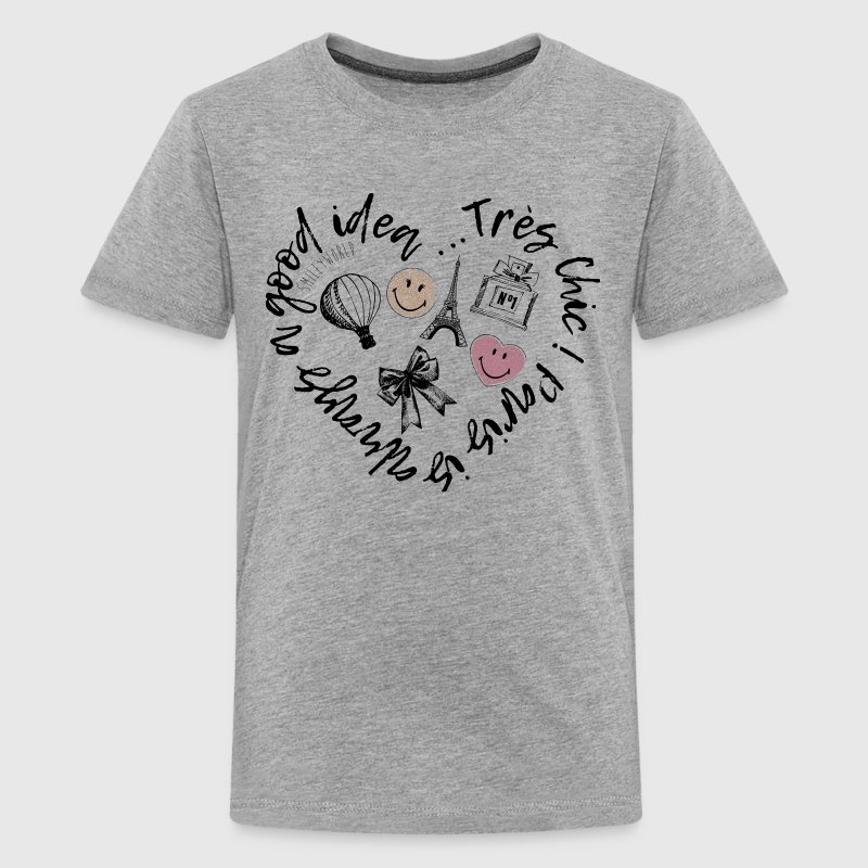 SmileyWorld Trés Chic! - Teenage Premium T-Shirt