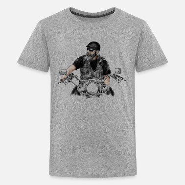 Christian Biker biker - Teenage Premium T-Shirt