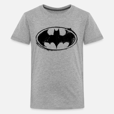Batman Superhelden Batman Logo black retro - Teenager Premium T-Shirt