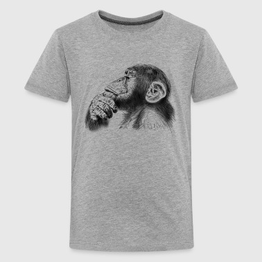 Monkey chimpanzee - Teenage Premium T-Shirt