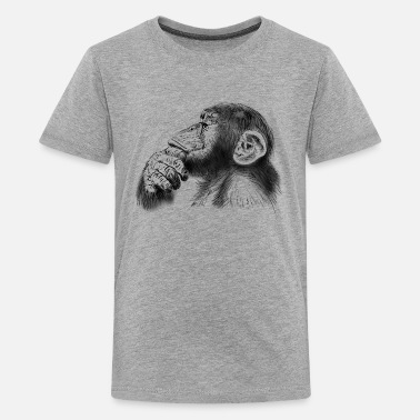 Chimpanzee chimpanzee - Teenage Premium T-Shirt