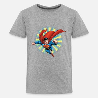 Super Héros Superman Flying Pose Ado Tee shirt manches longues - T-shirt Premium Ado