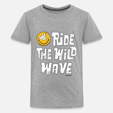 Smiley SmileyWorld 'Ride the wild wave' teenager t-shirt - Teenage Premium T-Shirt
