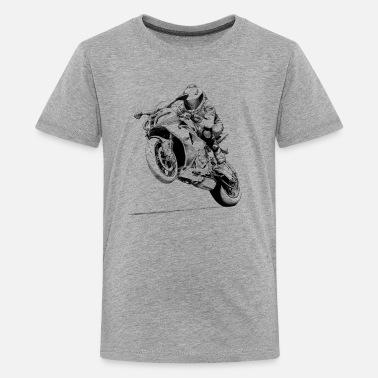 T À LigneSpreadshirt Moto En Shirts Commander NO8wP0ZnkX