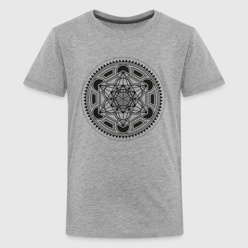 METATRONS CUBE, SACRED GEOMETRY, SPIRITUALITY - Teenage Premium T-Shirt