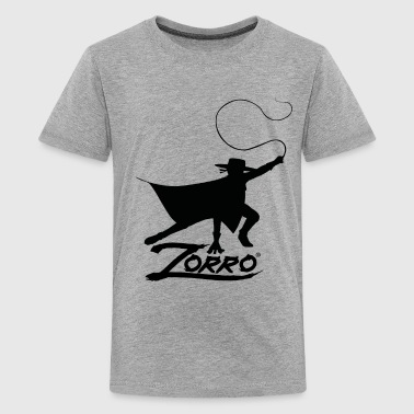 Zorro The Chronicles Silhouette With Whip - Teenager Premium T-shirt