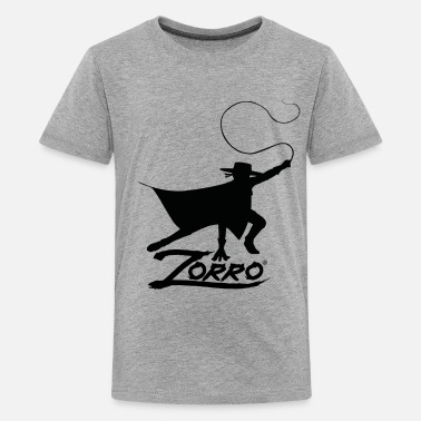 Zorro The Chronicles Silhouette With Whip - Premium T-shirt tonåring