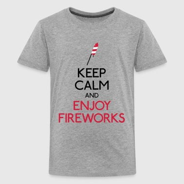 keep calm enjoy firework - Teenager Premium T-shirt
