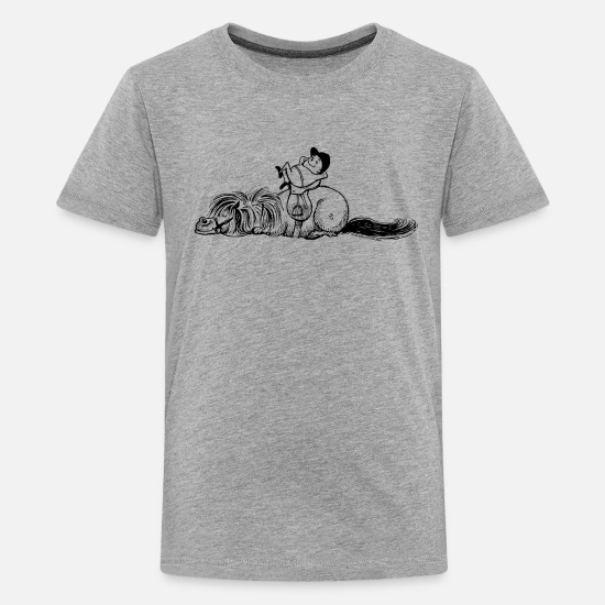 Norman T-Shirts - Thelwell 'Pony is sleeping' - Teenage Premium T-Shirt heather grey