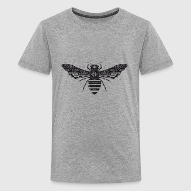 artfully designed bee - Teenage Premium T-Shirt