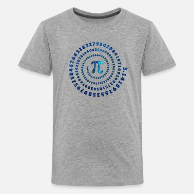 Cosmic Pi Spiral, π, wiskunde, Pi Day, formule - Teenager premium T-shirt