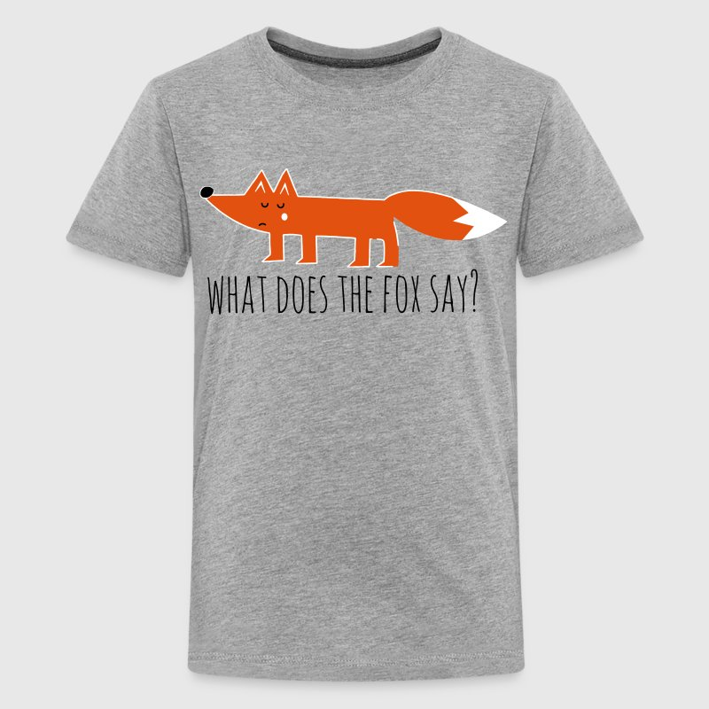 Funny what does the fox say ring ding meme song - Teenage Premium T-Shirt