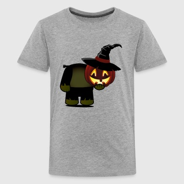 Frankenstein, Halloween, Pumpkin, Kopflos, Monster - Teenager Premium T-Shirt