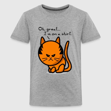 cat grumpy cat on shirt - T-shirt Premium Ado