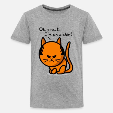Grumpy Cat cat grumpy cat on shirt - Teenager Premium T-Shirt